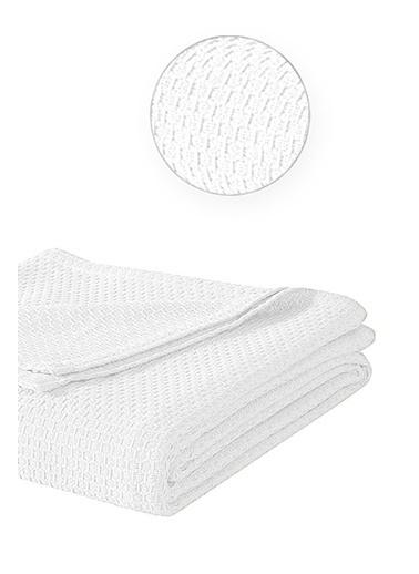 Alla Turca Tek Kişilik Lux Pike Seti-Beyaz/Pudra Beyaz
